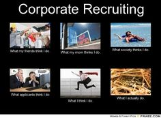 Corporate Recruiting - What my friends think I do...