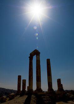 Temple Of Hercules in the city of Amman in Jordan