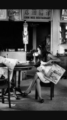 Coffee Shop in the 70s (Sarawak, Borneo)