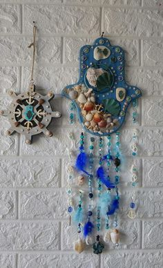 Unique Hamsa Hand Wall Decor, Nautical Blue Ocean Hamsa Hand Blessing, Gift forBeach and Sea Lovers Hamsa Art, Good Luck Symbols, Jewish Gifts, Good Luck To You, Home Wall Decor, Easter Gift, Free Gifts, Special Gifts, Nautical