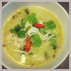 Tom-ka-kai Thaise soep met kokosmelk en kip