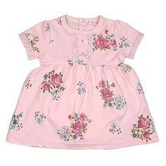Rock a Bye Baby: Pink Floral Dress, 0-9 maanden