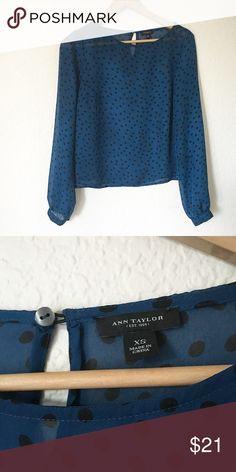 Ann Taylor mini polka dots Long sleeve , mini polka dots Ann Taylor Tops Blouses