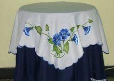 Camino de mesa con tulipanes Paqui Juanola Pintura en tela