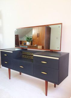 Mid Century Vintage Retro Dressing Table Upcycled