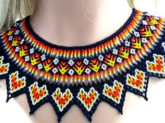 Huichol Beaded Colar Necklace