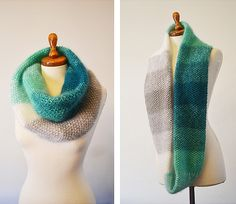 Gradient Scarf by LuckyInk.org #Knit #Knitting #Knitted #Scarf #Cowl #Ravelry #Ombre