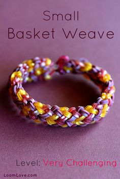 Learn How to Make a Small Basket Weave Rainbow Loom Bracelet