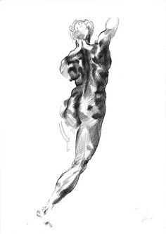 Copy of an oririnal drawing of Michelangelo