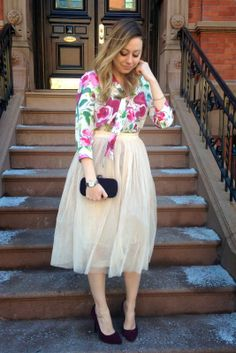 Cupcakes & Couture: What I Wore: Flowers & Tulle