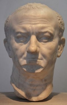 A portrait bust of Vespasian, from Ostia, 69-79 CE. (Palazzo Massimo alle Terme, Rome)