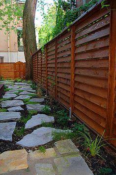 Image result for horizontal fence designs