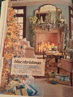 Blue and white silver and gold Christmas is so me!!!!