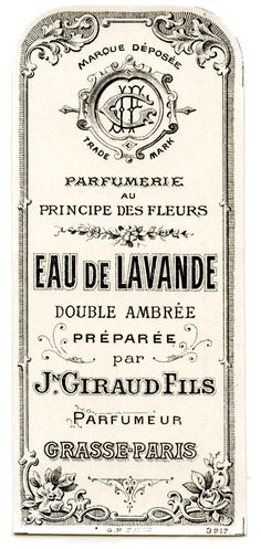 Old Label - French Lavender Perfume