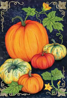 Accent Flag - Heirloom Pumpkins Decorative Flag at Garden House Flags at GardenHouseFlags