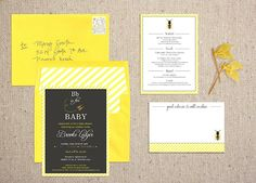 """""""Bb is for Baby"""" Shower Invitations"""