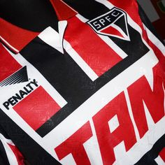 #classicshirt - #sãopaulo 1993 away shirt by #penalty  As worn when the tricolor retained the Intercontinental cup with #Brazil greats #cafu and #leonardo in the squad  #brazilian #tricolor #spfc #90s #classicfootballshirts