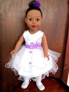 "Madame Alexander 2009 18"" Ballerina Doll, African American Brown eyes & Hair #DollswithClothingAccessories"