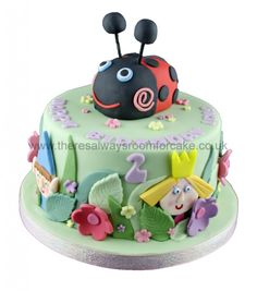 Children's Cakes - There's Always Room For Cake Girl 2nd Birthday, 1st Birthday Cakes, Fairy Birthday Party, Ben And Holly Cake, Ben E Holly, Ladybug Cakes, Ladybug Party, Ladybird Cake, Single Tier Cake