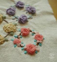 (서양,프랑스 자수/스티치)  꽃 입체자수 3종셋트 요근래 고속터미널 꽃시장을 갔는데 봄이라 그런...