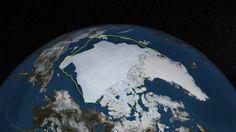 L'impressionnante fonte de la banquise arctique [vidéo] - notre-planete.info