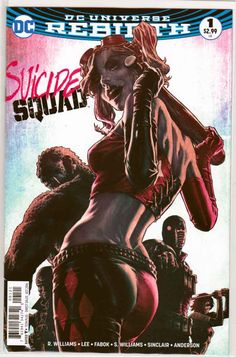 Suicide Squad #1 (2016) Variant Lee Bermejo Cover. Rob Williams  Story. Jim Lee…