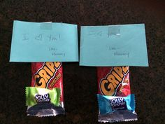 Love notes on the boys' snacks :) they'll be so excited...I only have a few more years of that!