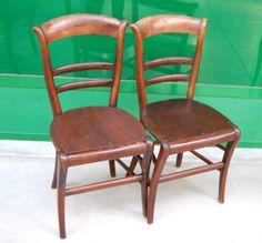 Coppia di sedie campagnole in noce fine '800 (seduta sostituita di recente)
