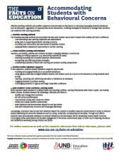 The Facts on Education: Accommodating Students with Behavioural Concerns | Canadian Education Association (CEA)