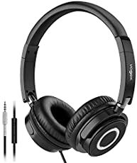 Vogek On Ear Headphones with Mic, Lightweight Portable Fold-Flat Stereo Bass Headphones with Tangle Free Cord and Microphone-Black: Electronics Best Bass Headphones, Best Earbuds, Headphones With Microphone, Headphone With Mic, In Ear Headphones, Bluetooth Speakers, Wireless Headphones, Pillow Top Mattress, Best Mattress