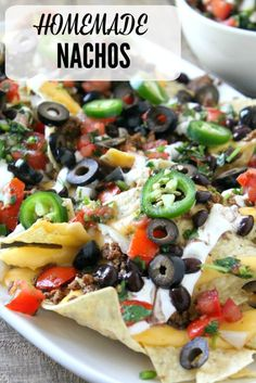 These homemade nachos just might become your new best friend but be sure to share them with the ones you love! Mexican Food Recipes, Beef Recipes, Cooking Recipes, Nacho Recipes, Recipies, Dinner Entrees, Dinner Recipes, Party Recipes, Sauces
