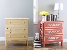 1 Accordion Accordion Scone (via Office Office Desk (via White + Bar Bar Cart: A budget friendly DIY Ikea hack bar cart perfect for summer entertaining. Ikea Furniture Hacks, Furniture Makeover, Furniture Dolly, Ikea Deco, Ikea Dresser, Best Ikea, Affordable Furniture, Home Projects, Painted Furniture