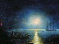 Smugglers: 1890   Ivan Aivazovsky Russian Maritime Painter 1817 - 1900