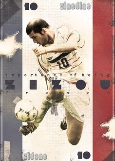 The Gods Of Football (Part I) by Marija Marković on Behance — Steven George GerrardZinédine Zidane, #10, France