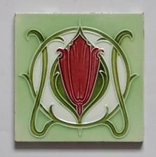 Antique Art Nouveau Tile by Minton Hollins, c1905