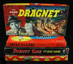 Board games from the 1950s