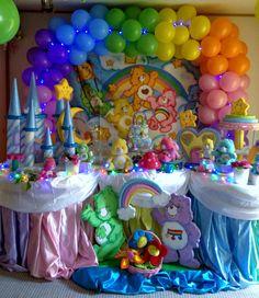 Bird Birthday Parties, 2nd Birthday Party Themes, Birthday Gift Baskets, Birthday Ideas, Care Bear Birthday, Care Bear Party, Baby Girl Shower Themes, Baby Shower, Care Bears