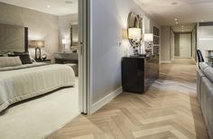 Sandbanks, Wood Flooring, Fendi - PRODUCT RANGE: Design from Havwoods PRODUCTS USED: HW3001 Venture Plank Fendi Herringbone