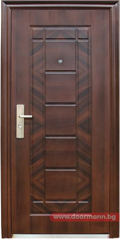 Блиндирана входна врата - Код 018-7 Front Door Design Wood, Double Door Design, Wooden Door Design, Bedroom Door Design, Door Design Interior, Wood Entry Doors, Wood Exterior Door, Modern Wooden Doors, Window Grill Design