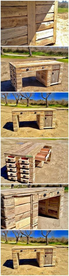 20 Brilliant DIY Pallet Furniture Design Ideas to Inspire You - diy pallet creations Building Furniture, Pallet Furniture, Furniture Making, Pallet Projects, Diy Projects, Pallet Ideas, Diy Pallet, Pallet Buster, Woodworking Plans