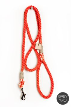 "Small flame red cotton rope 50"". $30.00"