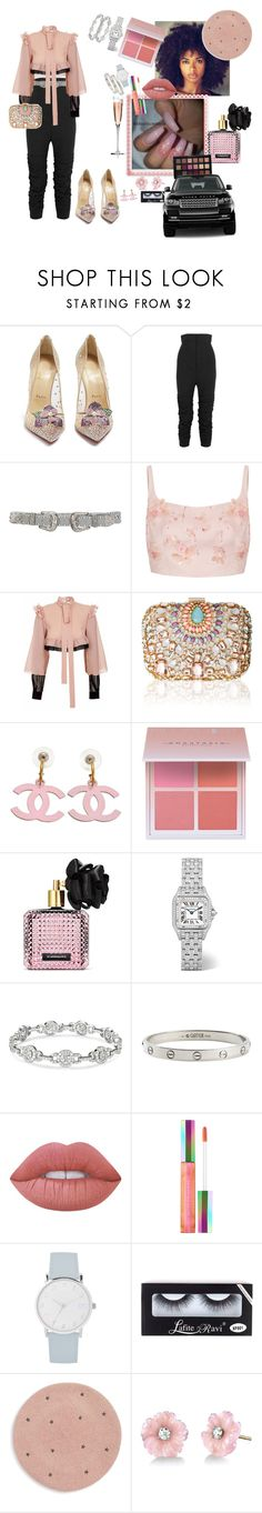 """Pastel baby"" by letmestyleriri ❤ liked on Polyvore featuring Christian Louboutin, Jacquemus, B-Low the Belt, Prada, JIRI KALFAR, Lipsy, Chanel, Anastasia Beverly Hills, Victoria's Secret and Cartier"