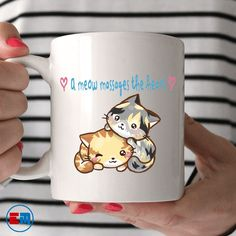 Cat Mug - A Meow Massages The Heart