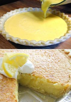 INGREDIENTS: – For the pie: 1 large lemon 4 large eggs ½ cup butter, melted 1 teaspoon vanilla 1½ cups sugar 1 (9 inch) piecrust, unbaked (I used a frozen deep dish) – For the topping: (optional) 1 cup whipping cream 2 Tablespoons sugar How To Make It: Click Next To Continue Reading