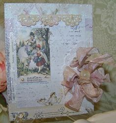 Easter Card Handmade Vintage Style Easter Wishes by TheNestinSLT