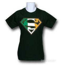 Images of Superman Irish Flag Symbol T-Shirt