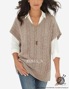 The Limited Cable Knit Poncho Natural Crochet Pullover Pattern, Vest Pattern, Crochet Poncho, Crochet Baby, Cardigan Sweaters For Women, Cardigans For Women, Ladies Sweaters, Poncho Sweater, Knitting Stitches