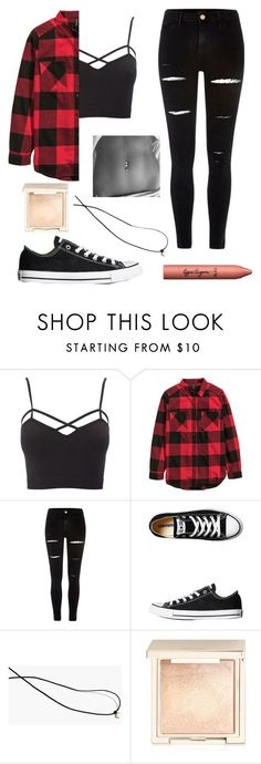 """Outfit #32"" by unicornicamitha on Polyvore featuring Charlotte Russe, River Island, Converse, Madewell, Jouer, tarte and plus size clothing"