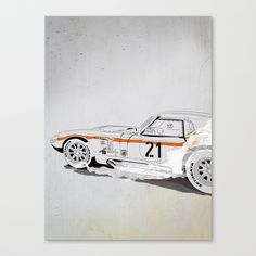 """""""Daytona Coupe_recollection"""" Canvas Print by SEVENTRAPS on Society6."""