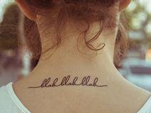 Temporary Tattoo - blah blah blah